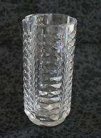 "Waterford Cut Crystal 246030 FLOWER VASE Cylindrical - 6"" Tall"