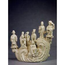 """Porzellanfigur """"Die Acht Unsterblichen"""", chinesisches Porzellan, Skulptur weiß"""