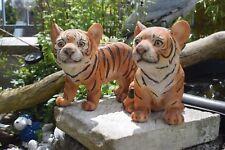 Deko Figur Tiger  2er Set  Gartenfigur, Wildtiere, Afrika, Skulptur, Polyresin