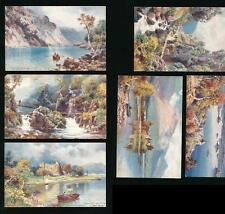 TUCKS OILETTE 7682 BONNIE SCOTLAND THE HIGHLANDS ARTIST WIMBUSH UNUSED SET of 6