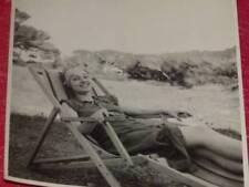 FUNDS GERMAINE ROGER VINTAGE PHOTO Relaxation Deckchair Ca 30 Operetta Cinema