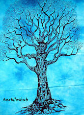 Indian Dry Tree Hanging Cotton Wall Tapestry Poster Blue Decor Throw
