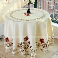 Yazi Embroidered Tablecloth Cover Doily Pillowcase Table Cloth Runner Placemats 000650 1pc 150cm