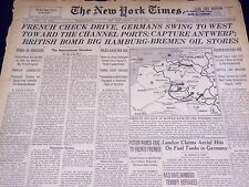 1940 MAY 19 NEW YORK TIMES - GERMANS CAPTURE ANTWERP - NT 2576