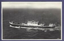 MS Willemstad @ Sea - Vintage B&W Postcard - Royal Netherlands Steamship Company