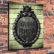 "Haunted Mansion Box Canvas Picture A1.30""x20"" Deep 30mm Frame Disney Halloween.."
