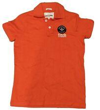 Boys Girls Kids Orange Abercrombie Polo Shirt Excellent Condition Size L