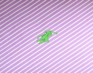 "Men's Ralph Lauren Polo White Purple Striped Cotton Shirt Sz 15.5"" 39 P-P 22.5"""