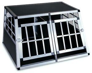 Box cani per auto gabbia in alluminio trasportino con divisorio removibile
