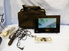 NTP Portable In-Car Travel DVD Player With Remote Carry Case Kid's Movie SD USB