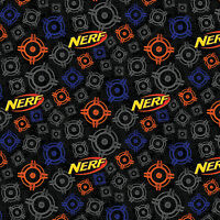 """Hasbro Nerf of Nothing 100% Cotton Fabric Remnant 30"""""""