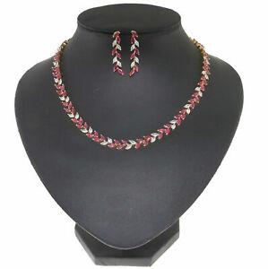 Cubic Zirconia Designer Fashion Ruby Necklace Earring set 38 RN 9 38 RN 10