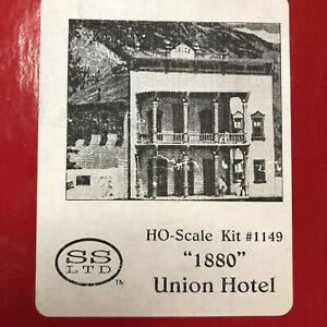 """Scale Structures 1149 HO """"1880"""" Union Hotel Model Building Kit NOS"""