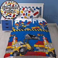 Lego City Demolition Single Duvet Cover Set Childrens - 2 in 1 Design