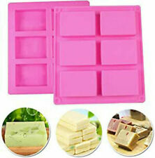 6 Cavity Silicone Rectangle Soap Mould DIY Homemade Cake Making Mold Craft