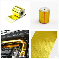 Car Golden 5m 1200°fContinuous Heat Shield Wrap Selfadhesive Protector High Temp