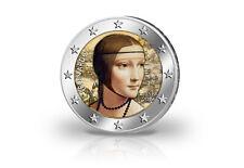 2 Euro 2019 Italien 500. Todestag Leonardo da Vinci mit Farbmotiv