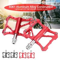 Road Mountain Bike Pedals Platform Flat Cycling Pedals Alloy Sealed Bearing New
