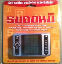 SUDOKU Hand Held ELECTRONIC GAME 9 Difficulty Levels TIMER FUNCTION New