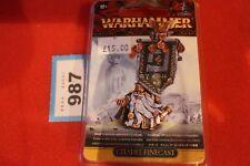 Warhammer Fantasy Dwarf Thane with Army Battle Standard Finecast Dwarves OOP New