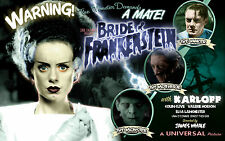 HALLOWEEN BRIDE OF FRANKENSTEIN! ELSA LANCHESTER! SHE LOOKS GREAT! MOVIE AD! F1