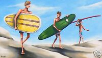 ART  BEACH SURF PAINTING LIMITED PRINT andy baker signed COA original
