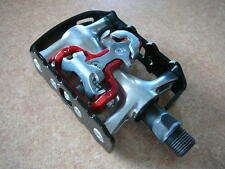 """XLC Alloy MTB / Trekking Pedal 9/16"""" Black Clipless Pedals with cleats NEW SPD"""