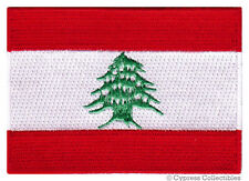 LEBANON FLAG embroidered iron-on PATCH LEBANESE EMBLEM MIDDLE EAST applique NEW