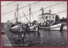FORLÌ CESENATICO 17 PESCA PESCATORI Cartolina FOTOGRAFICA viaggiata 1954