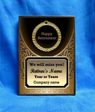 Retirement Bronze Lace Custom Personalized Award Plaque Gift Retired Retiring