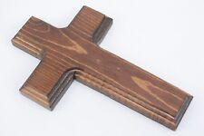 Old Rugged Cross Handmade Pine Wood 7x4.5in Wall Hanging Christian Crucifix 705
