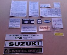 SUZUKI LJ 80 DECALS AND PLATES