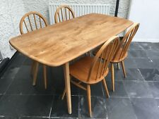 Ercol Plank dining room table and 4 Ercol 400 chairs