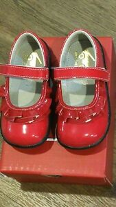 """New See Kai Run """"Belle II"""" red patent leather mary jane shoes, 9,NIB"""