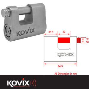 KOVIX ALARM PADLOCK WITH 16MM LOCKING PIN MOTORCYCLE MOTORBIKE SCOOTER LOCK