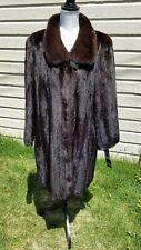 Near Mint! XL SAGA BLACK LONG MINK INCREDIBLE Fur Coat SAGA MINK
