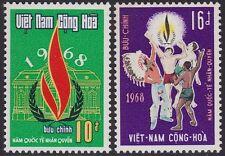 VIETNAM du SUD N°339/340** Droits de l'Homme,1968 South Viet Nam S#335-336 MNH