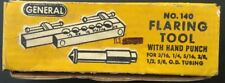GENERAL NO.140 FLARING TOOL WITH HAND PUNCH, IN BOX 3/16 1/4 5/16 3/8 1/2 5/8 OD
