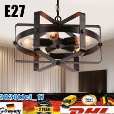 E27 Industrielampe Schwarz Retro Vintage Design Hänge Pendel Decken Leuchte DHL