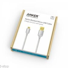 Anker 10ft / 3m Nylon Braided Tangle-Free Micro USB Cable for Anroid/Samsung/LG