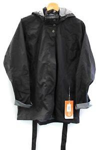 Ladies MERRELL Opti-Shell Black 100% Polyester Hooded Zip Up Jacket UK XL - L44