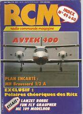 RCM N°61 WEBRA SPEED 28 H / BROUSSARD / AVTEK 400 / MINI-ALTIMETRE / LANZET