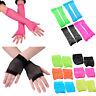 Women Sexy Disco Dance Costume Party Lace Fishnet Fingerless Mesh Warmer Gloves