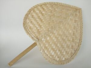 Thai Handmade manual fan for relax of hot weather.Made of Bamboo.Gift Woven Folk