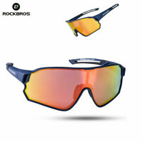 ROCKBROS Cycling Polarized Glasses Navy Blue Full Frame Sport Sunglasses Goggles