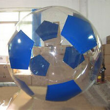 MIL 2M Water Walking Roll Inflatable Zipper Zorbing Ball Football Style Blue