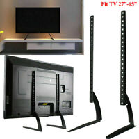"""Universal Flat Screen TV Stand Base Tabletop Hold Pedestal Mount LCD LED 26""""-65"""""""