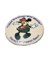 "Vintage ""I Had Breakfast With Minnie"" Disney's Polynesian Resort Pin: 1990"