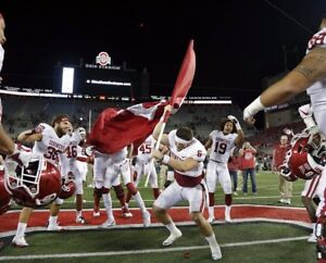 Baker Mayfield Oklahoma Sooners Plants a Flag at Ohio St Photo #2 - select size
