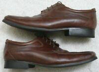 Belvedere Brown Leather Upper Men's Man's Dress Shoes 12 M Twelve Oxford Solid